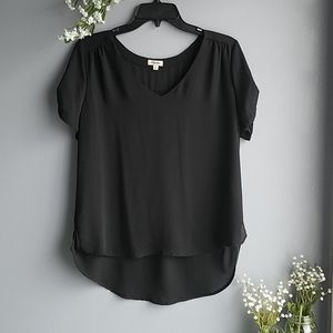 Lily Star sheer black high low top